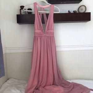 Asos chiffon low v maxi dress